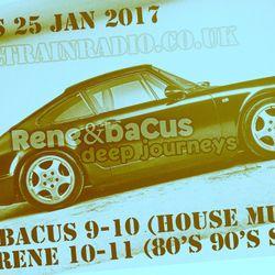 Rene & Bacus LIVE Deep Journey Radio Show Pt 5 25th JAN 17 House Techno Deep Soul Funk 80's 90's