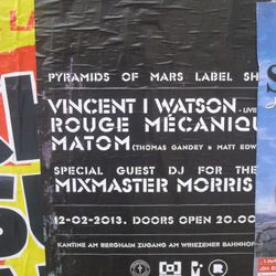 Mixmaster Morris - Pyramids of Mars party @ Berghain Kantine Feb 2013