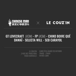 ApéroMix - Chiko Boire Qué, GT Lovecraft & Selecta Will - 29/10/18 @Le Couz'In - Part 1