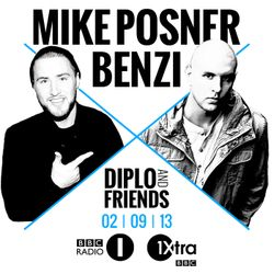 Diplo and Friends on BBC Radio 1Xtra feat. Mike Posner & Benzi 2/10/2013