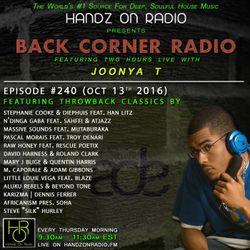 BACK CORNER RADIO: Episode #240 #ThrowBackThursday (Oct 13th 2016)