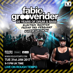 Fabio and Grooverider (Hot Source Records) @ Electric Brixton Warm Up Show (31.01.2017)