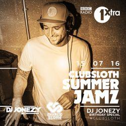 DJ Jonezy - BBC Radio 1Xtra - ClubSloth Summer Jamz - July 2016
