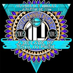 Dj JP Mano, Da Vince, Luc Supra @ Djoon 10 Years Anniversary, Friday July 5th 2013
