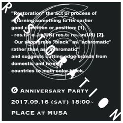 RESTORATION 6th Anniversary MIX         MIXED BY DJ MR.SYN
