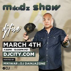 DJ Five - MikiDz Show - Mar 4, 2013