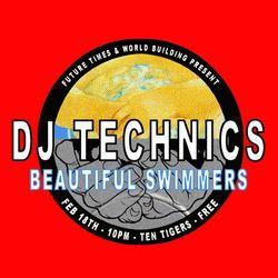 Beautiful Swimmers and DJ Technics live at Ten Tigers DC 2-18-2017