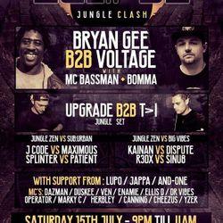 BRYAN GEE AND BOOMA MC AT JUNGLE CLASH - LONDON  - JULY 2017