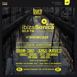 IGOR MARIJUAN - LIVE FROM BURN RESIDENCY PRESENTS IBIZA SONICA SHOWCASE @ADE 2015 - 17TH OCTOBER