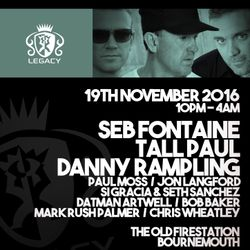 Danny Rampling  Manor Reunion -Upstairs and Uplifting- Bournemouth UK