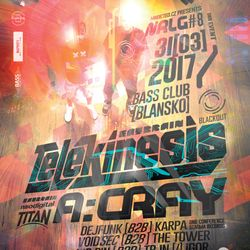 Telekinesis (Blackout Music) @ Neurology #8, Music Club BASS - Blansko, Czech Republic (31.03.2017)