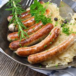 Bratwurst and Sauerkraut