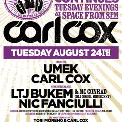 UMEK - 'The Revolution Continues with Carl Cox @ Space Ibiza' - Vol. 1 - 24.08.2010