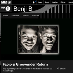 Benji B w/ Fabio and Grooverider RAGE Special BBC Radio 1 23 June 2019