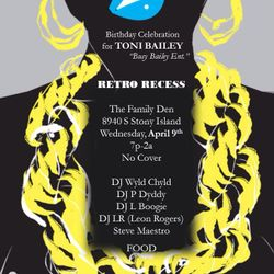Toni Bailey's B-Day @ The Family Den-Retro Recess Wednesdays-9 April 2014