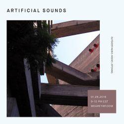 ARTIFICIAL SOUNDS - JANUARY 26 - 2016