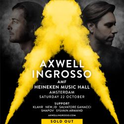 Axwell Λ Ingrosso @ Heineken Music Hall Amsterdam Oct 22nd 2016
