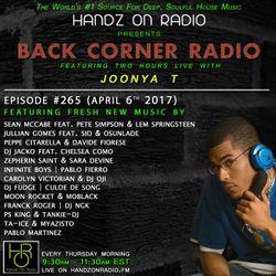 BACK CORNER RADIO: Episode #265 (April 6th 2017)