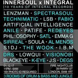 Artificial Intelligence (Integral, Metalheadz) @ 10 Years Of Integral x Fire London (27.11.2017)