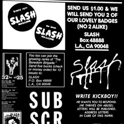 Chris Ziegler w/ J.C. Gabel & Brian Roettinger – Slash: A Punk Magazine from Los Angeles, 1977–80