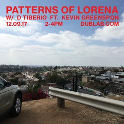 D Tiberio w/guest Kevin Greenspon – Patterns of Lorena (12.09.17)