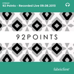 92 Points - Recorded Live on 09/08/2013