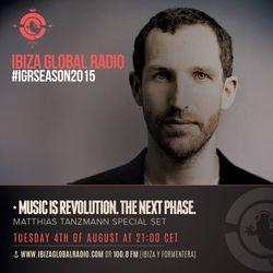 Matthias Tanzmann @ Ibiza Global Radio - Agosto 15