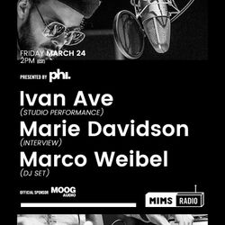 MIMS Radio Session #004 - Ivan Ave, Marie Davidson, Marco Weibel