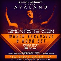 Kristina Sky Live @ Avalon Hollywood (Simon Patterson #OpenUp Tour) [03-15-14]