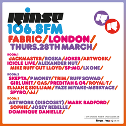 Rinse FM Show - Huxley w/ Sam russo - 19th March 2013
