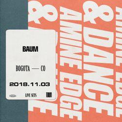 2018.11.03 - Amine Edge & DANCE @ Baum, Bogota, CO