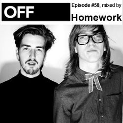 OFF RECORDINGS PODCAST EPISODE #58, MIXED BY HOMEWORK
