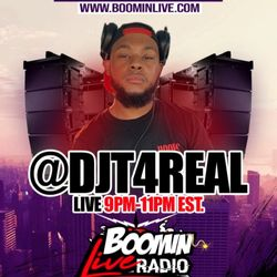 @DJT4Real set on @BoominLive . com on a Friday Night (9/20/19) 1