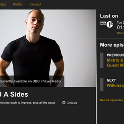 A Sides Radio 1 Guest Mix For DJ Friction - Sep 2014