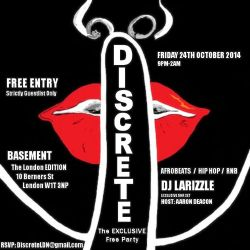 Discrete - The Exclusive Free Party [Afrobeats | Afro-House | Hip Hop | Rnb]