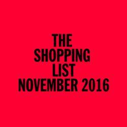The Shopping List / November 2016