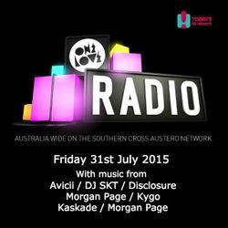 onelove radio Friday 31st July 2015