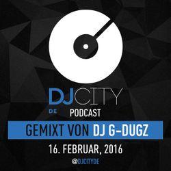 DJ G-Dugz - DJcity DE Podcast - 16/02/16