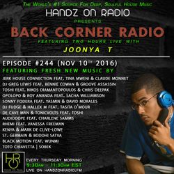 BACK CORNER RADIO: Episode #244 (Nov 10th 2016)