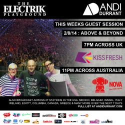 Andi Durrant Electrik Playground 2/8/14 - Above & Beyond Guest Session