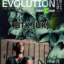 BTK (Virus Recordings, Dutty Audio) @ SNDNB - Evolution, Cross Club - Prague (19.01.2019)
