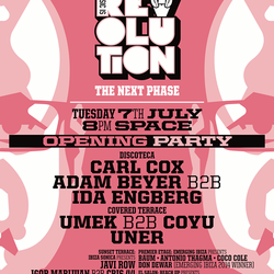 UMEK B2B COYU - LIVE at MUSIC IS REVOLUTION OPENING at SPACE - JULY 7TH - IBIZA SONICA