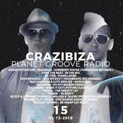 Crazibiza Radioshow - 15 (01-13-2018)