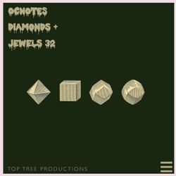 OCnotes Top Tree Diamonds & Jewels Mix #32