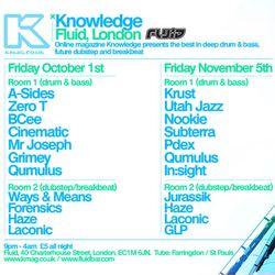 Subterra & Dekko at Fluid on Nov 5th Promo Mix