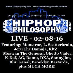 HipHopPhilosophy.com Radio - LIVE - 02-08-16