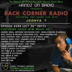 BACK CORNER RADIO: Episode #294 (Oct 26th 2017)