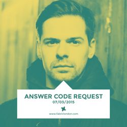 Answer Code Request - fabric x MDR Mix (Mar 2015)