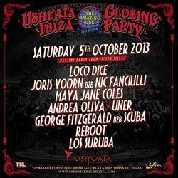 GEORGE FITZGERALD b2b SCUBA - USHUAIA CLOSING PARTY - 05 / 10 / 2013