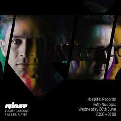 Rinse FM: Hospital Records w / Nu:Logic (28.06.2017)